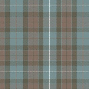 reversed Fraser hunting tartan, rusty red stripe