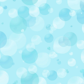 Blue Bubbles and Dots
