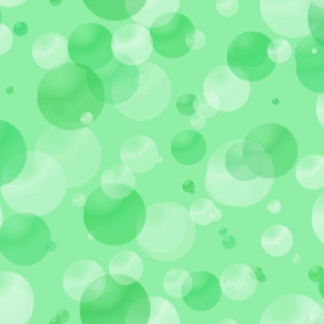 Green Bubbles and Dots
