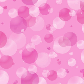 Pink Bubbles and Dots