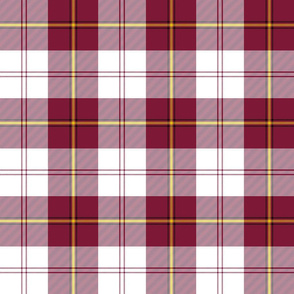 "Cunningham dress tartan, 6"" burgundy"