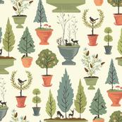 Topiary Scenes: Morning
