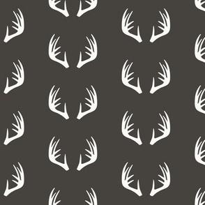 antlers - woodland fabric - C1 (CB)