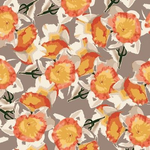 white_orange_daffodils_on_taupe