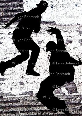 black white and grey hip hop dancers
