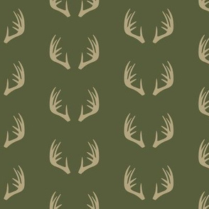 antlers - woodland fabric - C2 (OT)