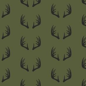 antlers - woodland fabric - C2 (OG)