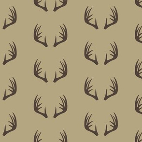 antlers - woodland fabric - C2 (T)