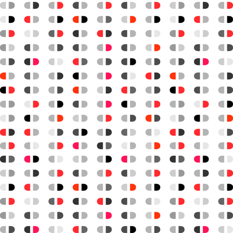 Capsules | Reds assorted on white fabric by shiere on Spoonflower - custom fabric