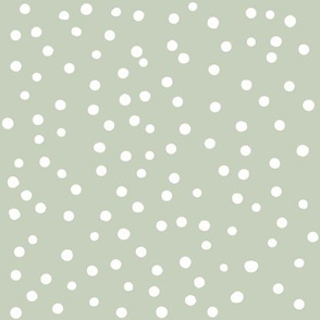 Dotty dusky green {large}