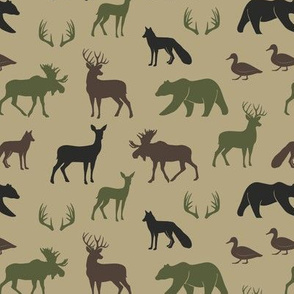 (small scale) woodland animals C2(T)