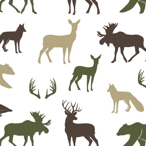 woodland animals C2 fabric by littlearrowdesign on Spoonflower - custom fabric