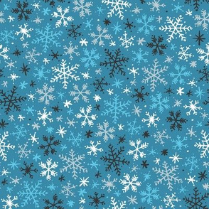 Snowfall (Teal)