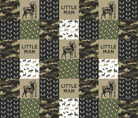 Little Man - Woodland wholecloth - C2 camouflage fabric by littlearrowdesign on Spoonflower - custom fabric
