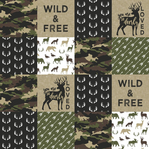 Wild&Free - woodland wholecloth - you are so deerly loved C2