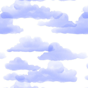 Translucent Clouds - indigo watercolor