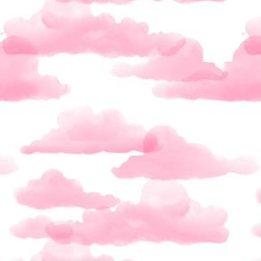Translucent Clouds - Dark Pink watercolor