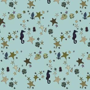 Starfish turquoise