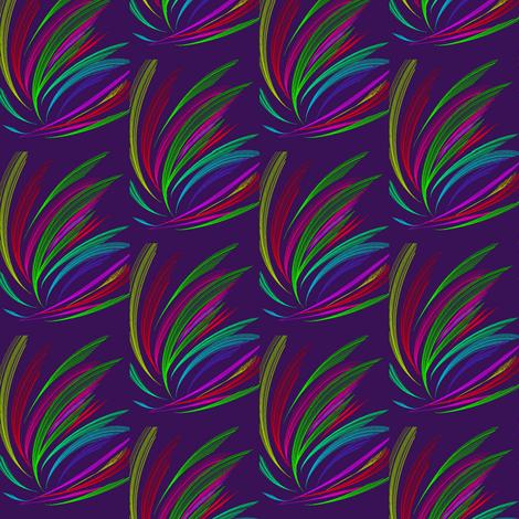 Firework Flashes on Dark Mulberry fabric by rhondadesigns on Spoonflower - custom fabric