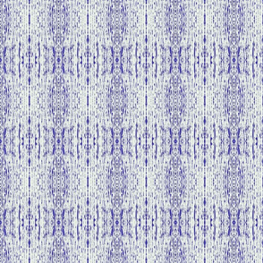 Inky Drizzle Shibori Waves - Bluebell on Moon Frost