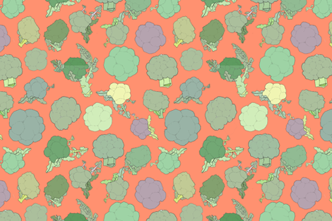 BROCCOLI fabric by alessandra_spada on Spoonflower - custom fabric