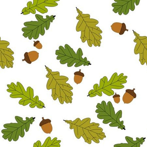 Oak leaves with acorns
