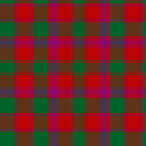 "Bruce old tartan, 6"" purple"