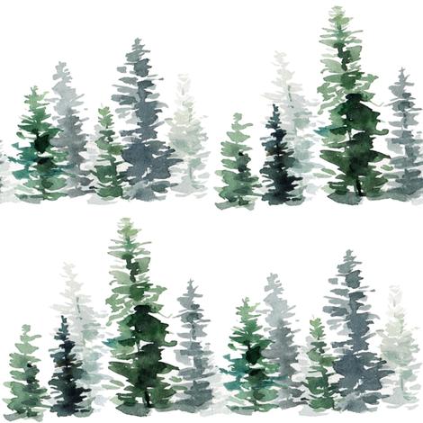 Forest Fir Trees fabric by hipkiddesigns on Spoonflower - custom fabric