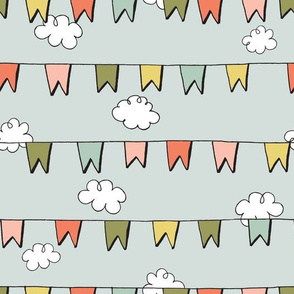 CLOUDS + BUNTING