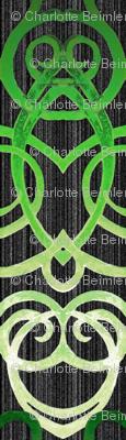 Macrame' Dream - Green on Black
