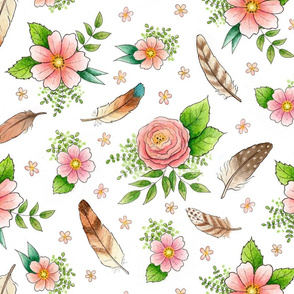 Feathers and Flowers - larger scale