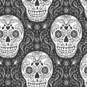 Calavera_dark_grey_sugar_skull_150_smaller_scale_hazel_fisher_creations_shop_thumb