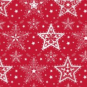 Rpatterned_christmas_stars_red_and_white_smaller_scale_hazel_fisher_creations_shop_thumb