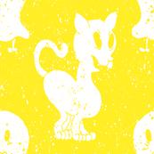 Cat & Ghostie | Yellow