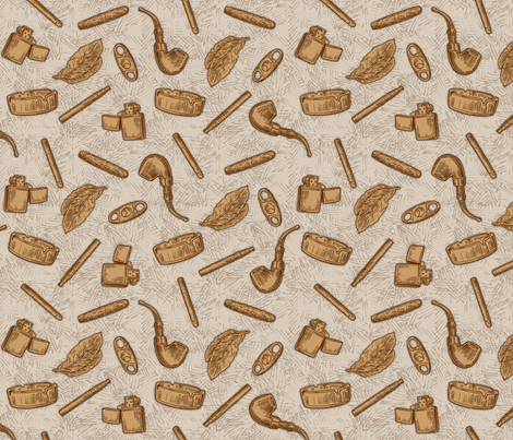 SW - Pipes & Cigars fabric by malibu_creative on Spoonflower - custom fabric