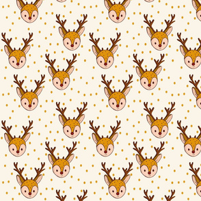 Deer | Autumn wintercollection nursery baby clothes baby girl cute baby fabric
