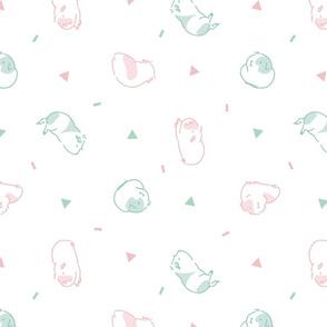 Guinea pig/Piggy style