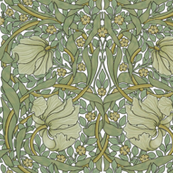 William Morris ~ Pimpernel ~ Original on White ~ Large