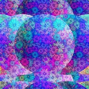 BLOSSOMS SEASON FUCHSIA PURPLE BLUE IMAGINARY PLANET