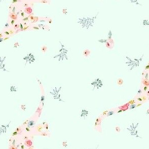 """5.25"""" Floral Dino / Roses"""