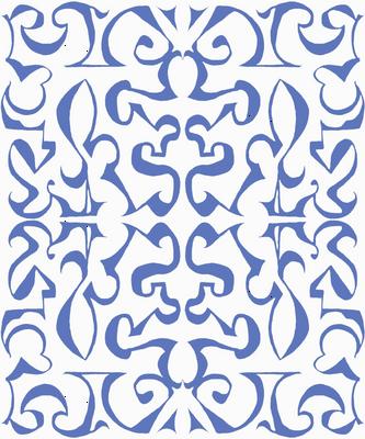 ARABESQUE Soft French Blue on White