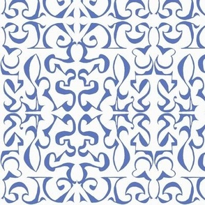 ARABESQUE Soft French Blue on White