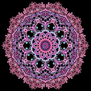 Mandala Project 281 | Pink on Black