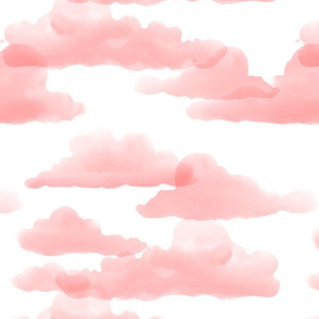 Translucent Clouds - Warm Pink Watercolor