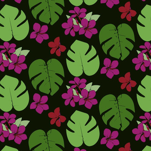 tropical block print