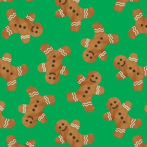 gingerbread man cookie toss - green
