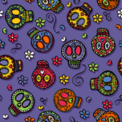 Sugar Skulls (on purple)