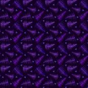 Botanical Print on Purple