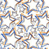 Lots of Orange&Blue Stars