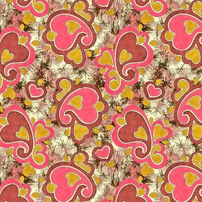 Antique hearts paisley